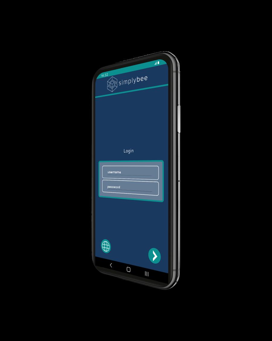 simplybee-app-anmeldefenster-screenshot